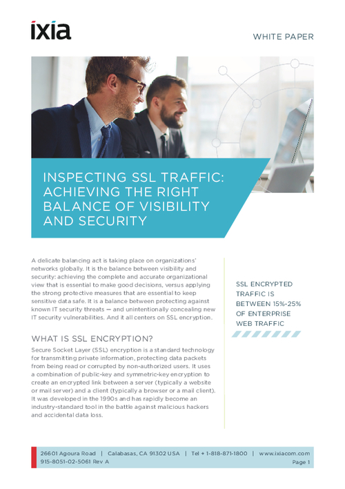 Inspecting SSL Traffic: Achieving the Right Balance of Visibility and Security