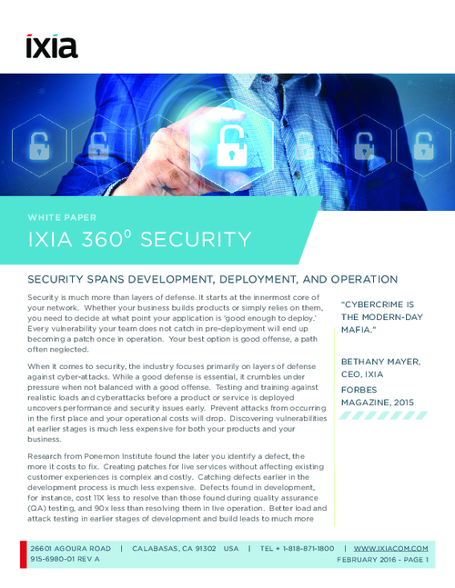 Ixia 360° Security