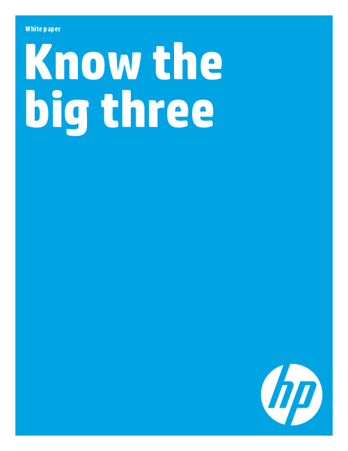 Know the Big Three