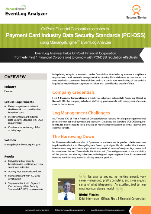 Leverage Continuous Monitoring to Achieve PCI-DSS Compliance