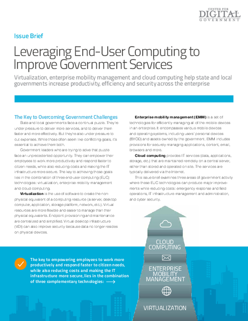 Building an Unified Approach to End-User Computing to Improve Govt. Services