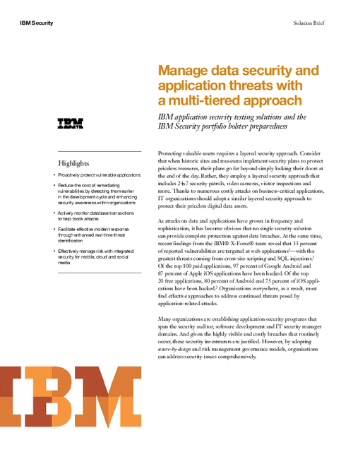 Manage Data Security and Application Threats With a Multi-Tiered Approach
