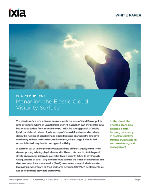 Managing the Elastic Cloud Visibility Surface