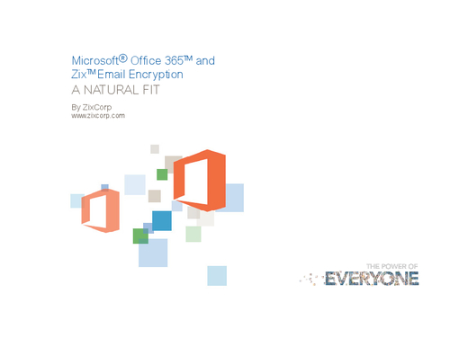 Microsoft Office 365 and Email Encryption