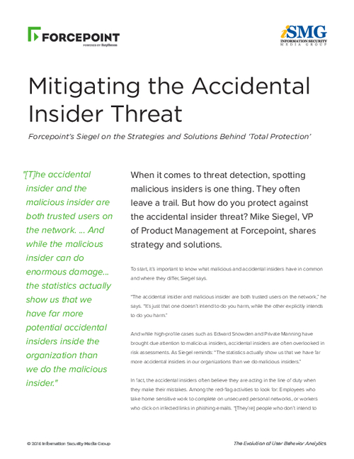 Mitigating The Accidental Insider Threat