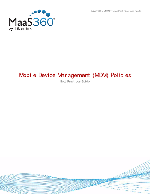 Mobile Device Management Policies: Best Practices Guide