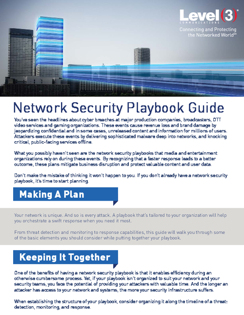 Network Security Playbook:  Mitigate Business Disruption and Protect User Data