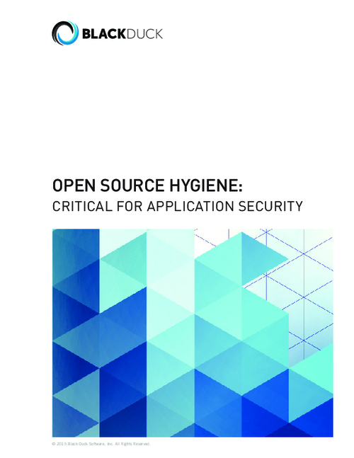 Open Source Hygiene: Critical for Application Security