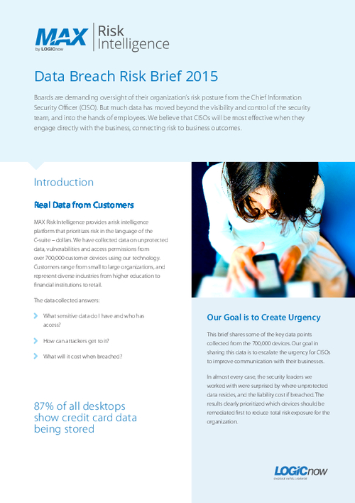 Operationalizing Risk for Data Breach Prevention Programs