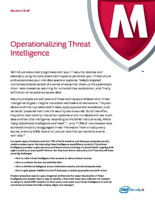 How to Operationalize Threat Intelligence