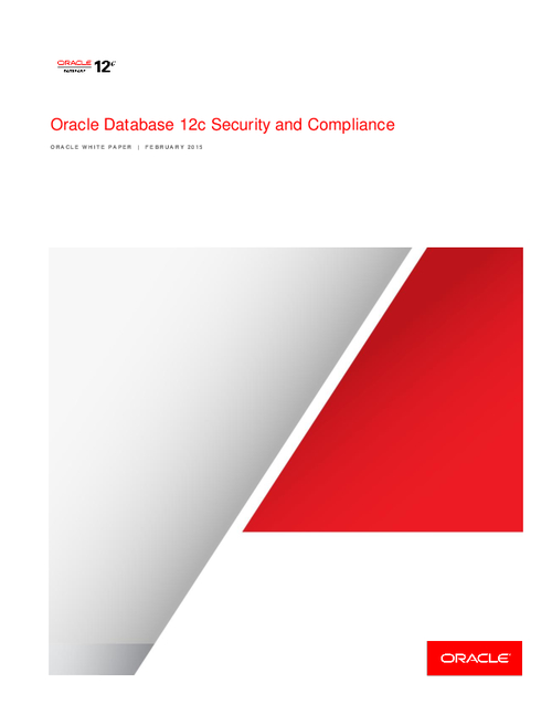 Oracle Database 12c Security and Compliance