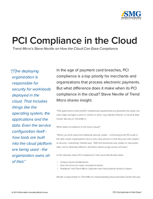 PCI Compliance in the Cloud