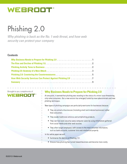 Phishing 2.0 -  How Web Security Can Protect Your Company