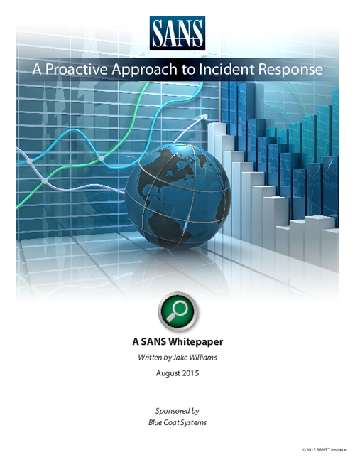 A Proactive Approach to Incident Response
