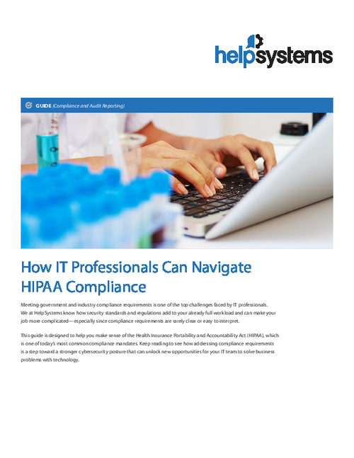 IT Professionals and HIPAA: A Guide