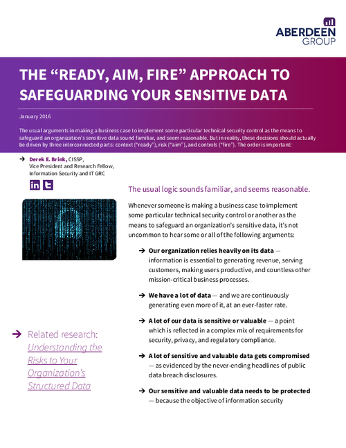 The Ready...AIM...Fire Approach to Safeguarding Your Sensitive Data