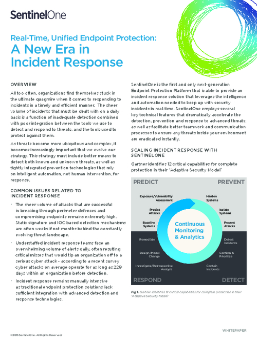 Real-Time, Unified Endpoint Protection: A New Era in Incident Response