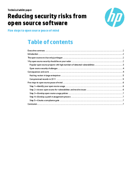 Reducing Security Risks from Open Source Software