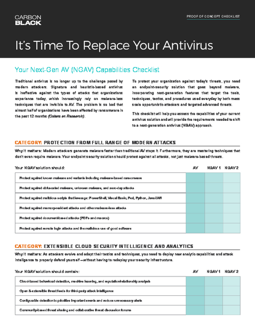 Replace Your Antivirus (AV) Checklist: It's Time to Replace Your Antivirus