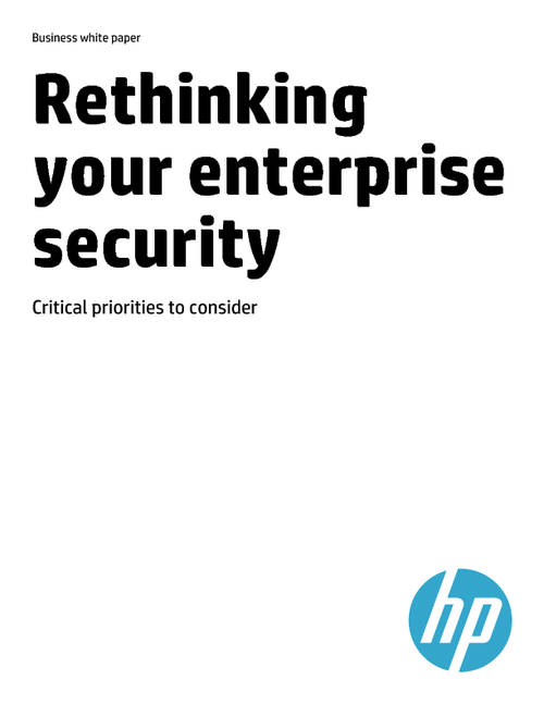 Rethinking your Enterprise Security