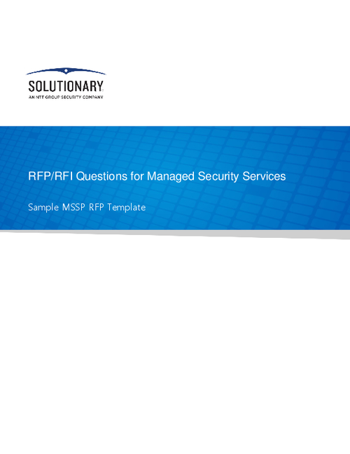 RFP/RFI Questions for Managed Security Services