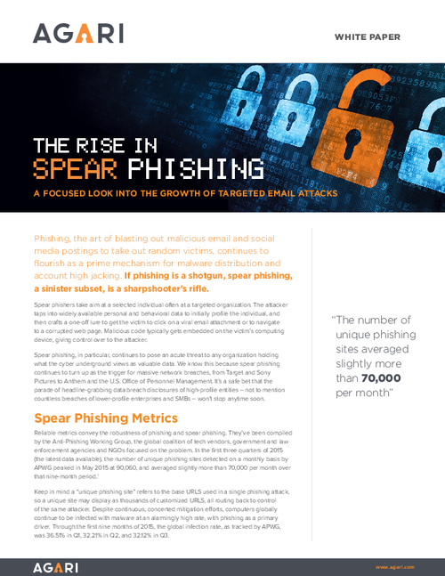 The Rise in Spear Phishing: A Focused Look into the Growth of Targeted Email Attacks