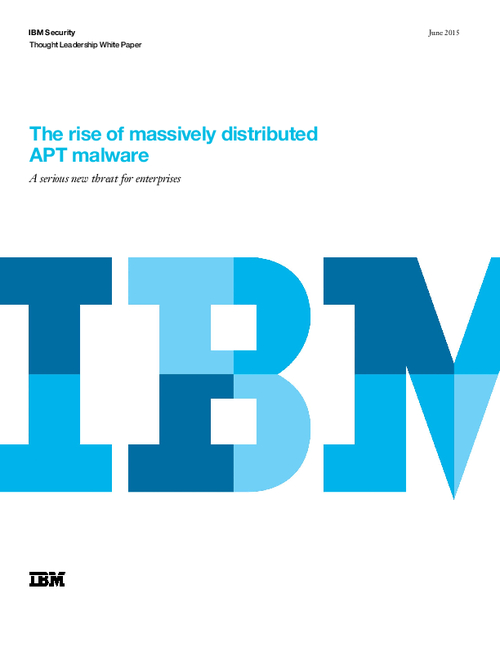The Rise of Massively Distributed APT Malware
