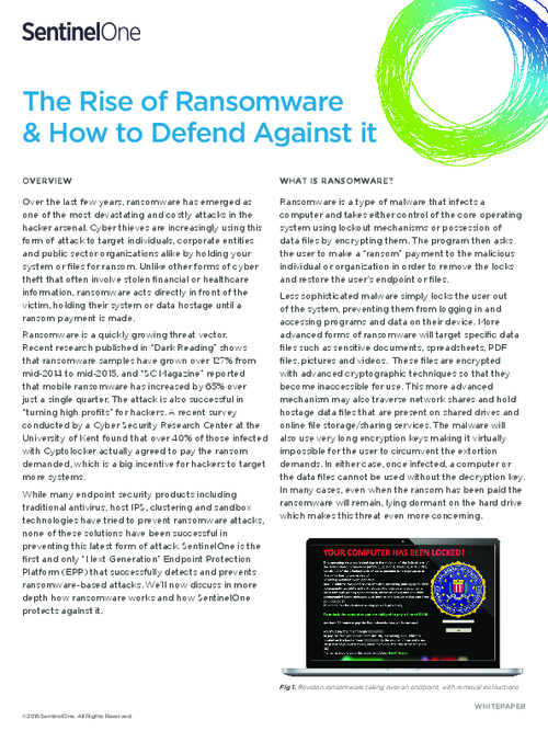 The Rise of Ransomware & How to Protect Against it