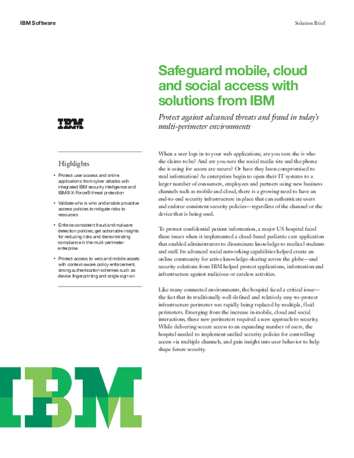 Safeguard Mobile, Cloud and Social Access