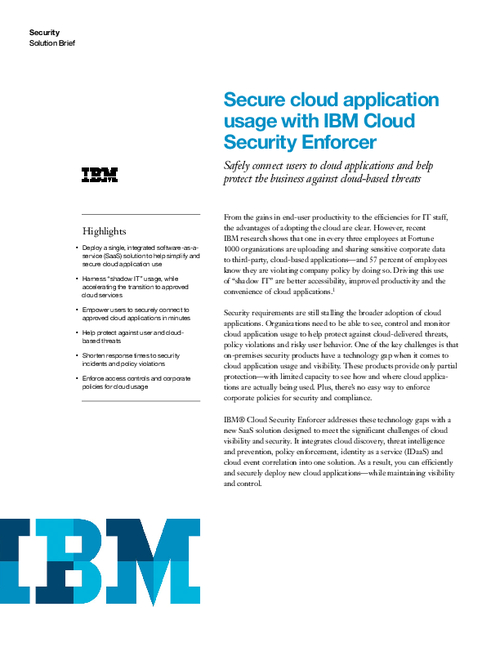 Secure Cloud Application Usage