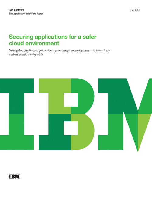 Securing Applications For a Safer Cloud Environment