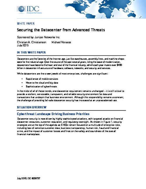 Securing the Datacenter from Advanced Threats