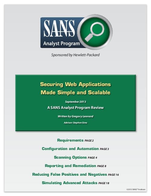 Securing Web Applications Made Simple and Scalable