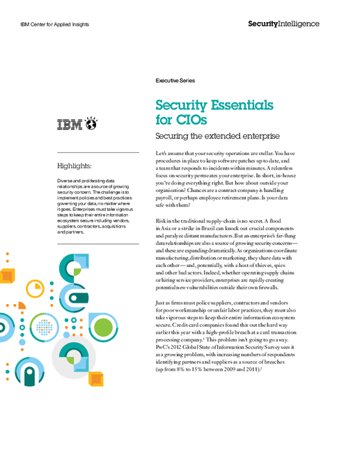 Security Essentials for CIOs: Securing the Extended Enterprise