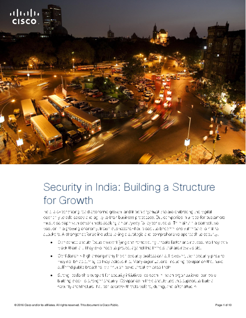 Security in India: Building a Structure for Growth