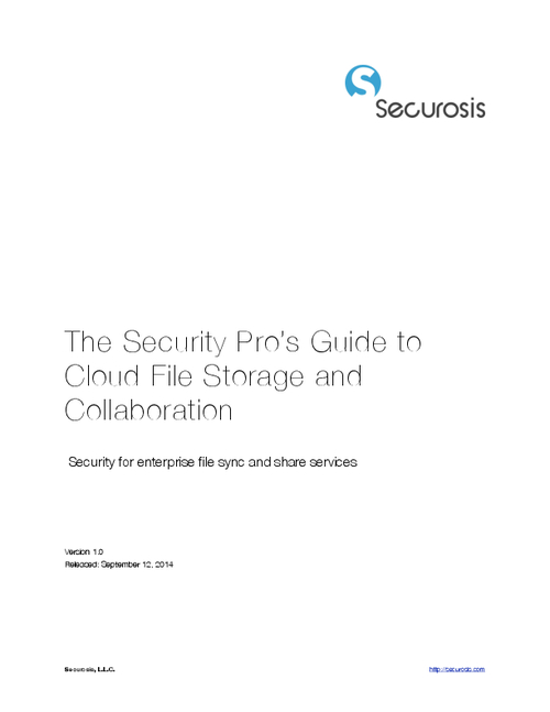The Security Pro's Guide to Cloud File Storage and Collaboration