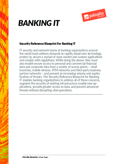 Security Reference Blueprint For Banking IT