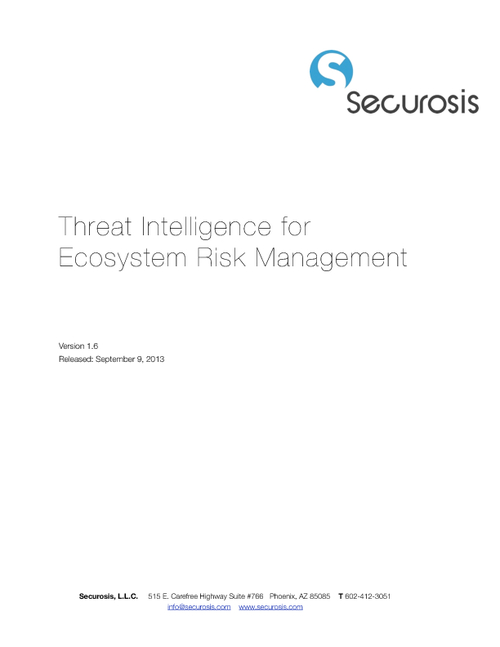Securosis Report: Threat Intelligence for Ecosystem Risk Management