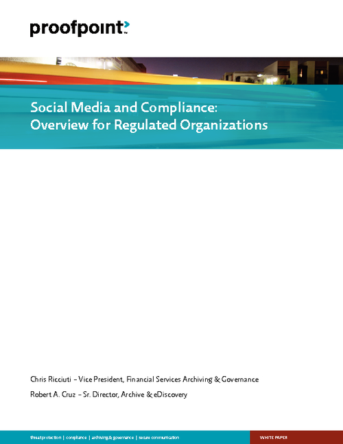 Social Media and Compliance: Overview for Regulated Organizations