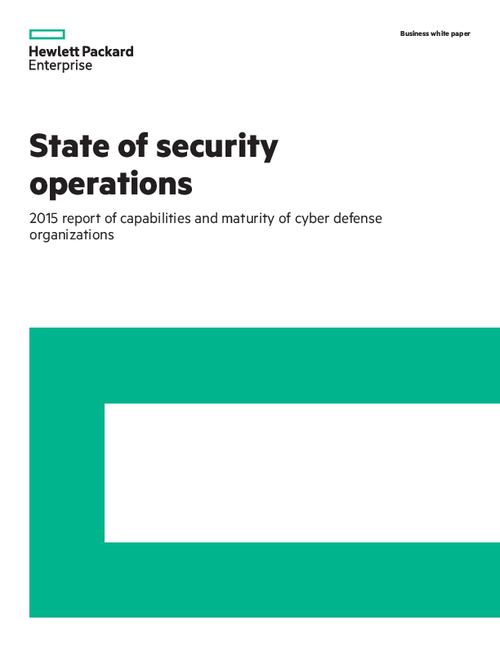 State of Security Operations 2015: Report of Capabilities and Maturity of Cyber Defense Organizations
