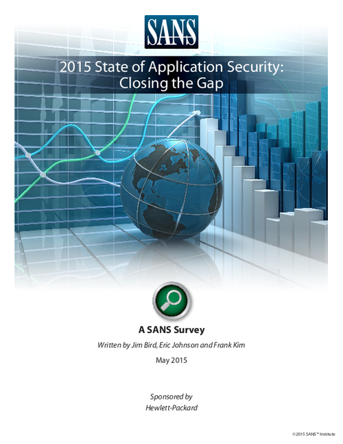 2015 Application Security: Closing the Gap, A SANS Survey