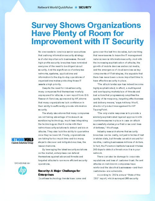 Survey Shows Organizations Have Plenty of Room for Improvement with IT Security