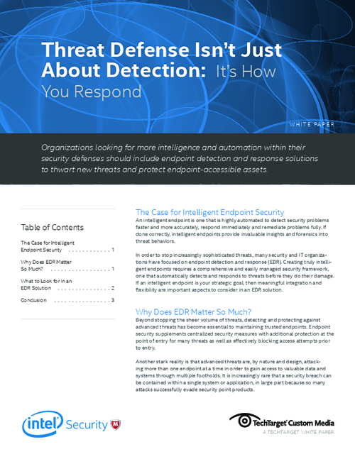 The Benefits of Endpoint Detection and Response