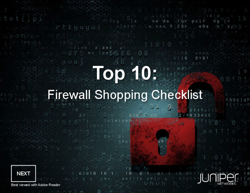 Top 10 Firewall Shopping Checklist