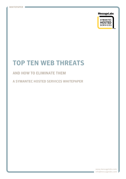 Top Ten Web Threats and How to Eliminate
