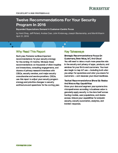 Top 12 Recommendations for Your Security Strategy