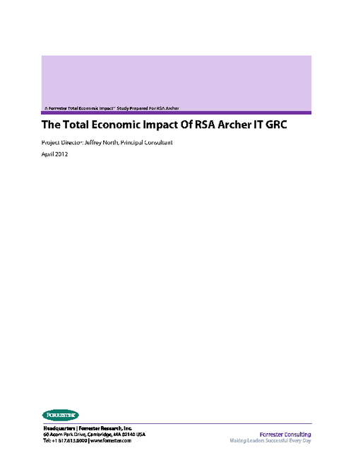 The Total Economic Impact of RSA Archer IT GRC