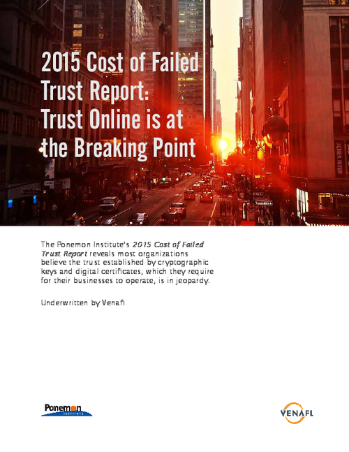 Trust Online is at the Breaking Point