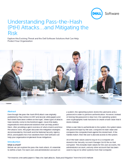 Understanding Pass-the-Hash Attacks - and Mitigating the Risks