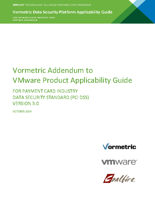 Vormetric Data Security Platform Applicability Guide for PCI